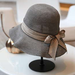 $enCountryForm.capitalKeyWord Australia - Fisherman's hat Ms Korean version Ribbon decoration Foldable Shade Beach hat Leisure fashion personality straw hat new style wholesale