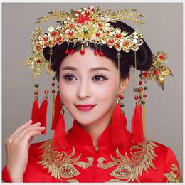 $enCountryForm.capitalKeyWord Australia - HIMSTORY 5PCS SET Chinese Vintage Style Hairpin Wedding Headdress Hair Accessories Bride Gold Performance Retro Hairwear