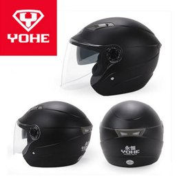 $enCountryForm.capitalKeyWord Australia - 2019 New Knight protection YOHE Half Face Motorcycle Helmet YH837A Double lens Motorbike Helmets made of ABS with PC Visor lens