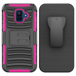 hybrid robot combo phone case NZ - For Iphone XR XS MAX LG Q7 plus Hybrid Armor Case robot cover Combo Heavy Duty With Clip phone case Oppbag