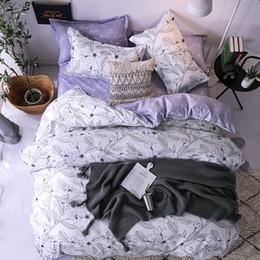 $enCountryForm.capitalKeyWord NZ - Textiles Stylish White Sketch Flower Purple Geometric Pattern Cartoon 2 3pcs Bedding Sets Contain Duvet Cover Bed Sheet