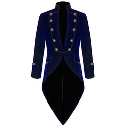 Navy blue tail suit online shopping - 2019 British Navy Blue Wedding swallow tailed Blazers Groom Wear Suits Custom Made Groomsmen Formal Dinner Party Prom Jacket Custom Made