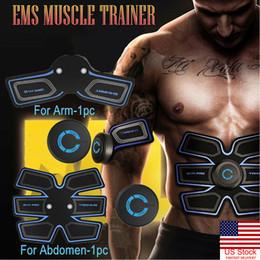 Аккумуляторная ABS Симулятор EMS Тренировки по Стимуляции Мышц Умный Сжигание Жира Абдоминальная Талия Рука Тренажер Мышц на Распродаже