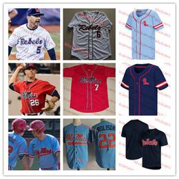 a425218bb Rebels Jersey Canada - Custom Ole Miss Rebels Baseball Jersey Ryan Rolison  Michael Spears Brady Feigl
