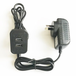 Usb Power Socket Cable Australia - AU New Zealand Standard Safety Power Adaptor Supply 2.2M Length Cable USB Extender Charger Furniture Socket Dual USB2.0 Ports Black Housing