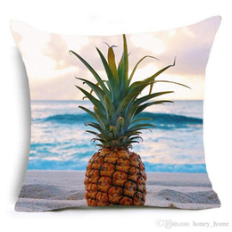 $enCountryForm.capitalKeyWord Australia - Pineapple Cushion Cover Plant Fruit Banana Ice Cream Home Decorative Pillows Cover for Sofa Cactus Cartoon Pineapple Pillow Case