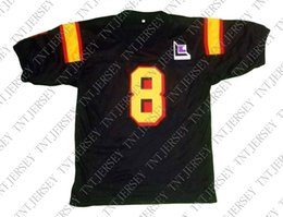 wholesale Clark Kent  8 Superman Smallville Movie New Football Jersey Black  Stitched Custom any number name MEN WOMEN YOUTH Football JERSEY b6a62208c