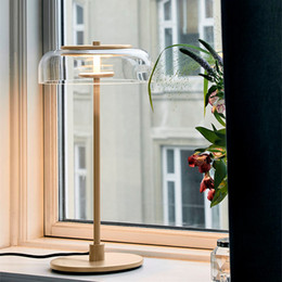 $enCountryForm.capitalKeyWord NZ - Modern Concise Bedside Glass Led Table Lamp Fashion Italy Designer Bowl Living Room Study Hotel Room Table Lights Free Shipping