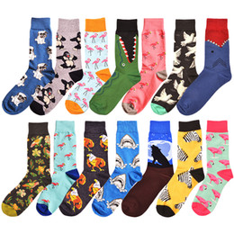 Big comBs online shopping - Mens socks Women animal alien chili Moustache sloths Novelty Sock combed cotton funny Socks Men s big size crew socks pairs