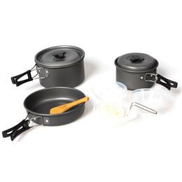 $enCountryForm.capitalKeyWord NZ - Outdoor Cookware Set Pot Pan Camping Cooking Backpacking Cook Kit Ladle Bowls Spatula Cleaning Sponge 2-3 Person