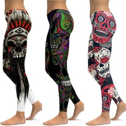 $enCountryForm.capitalKeyWord NZ - LI-FI Skull Leggings Yoga Pants Women Sports Pants Fitness Running Sexy Push Up Gym Wear Elastic Slim Workout Leggings
