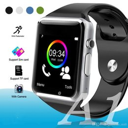 bluetooth smart watch sim Australia - The wholesale A1 Smart watch Bluetooth Touch Screen Smart Wrist Watch Sport Pedometer with SIM Camera Clock For Samsung Android