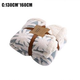 $enCountryForm.capitalKeyWord UK - Jacquard Double Blanket Warm Double Layer Jacquard Flannel Quilt For Couch Bed Office Quick Delivery