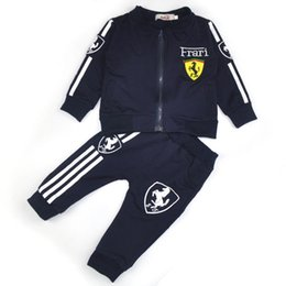Wholesale Kids Sport Suit Spring Fall Set Vetement Garcon Cardigan Baby Jacket trousers Toddler Baby Clothing Suit Boys Clothes Girls Tracksuits