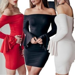 cc85bfc79ed8 Hot Hips tigHt dresses online shopping - 2019 Hot Sale Sexy Solid Color  Flare Skirt Off