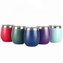 Thermos insulaTed coffee mugs online shopping - 8oz Wine Tumbler Egg Cups double wall Stainless Steel Wine Glasses Beer Tea Coffee mugs Vacuum Insulated Thermos Cup Red wine glass