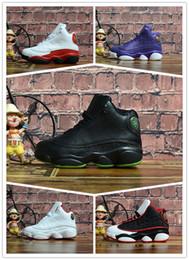 Basketball Sneakers For Cheap Australia - 2019 Big discount 13 Grey Pink Black Kids Basketball Sports Shoes 13s Sneakers Cheap Kids Shoes fashion trainer for boys girls