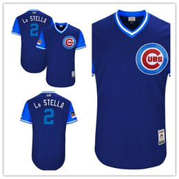 Stella light online shopping - Custom Men s Cubs Tommy La Stella quot La Stella quot Chicago Royal Light Blue Players Weekend Authentic women kids Jersey