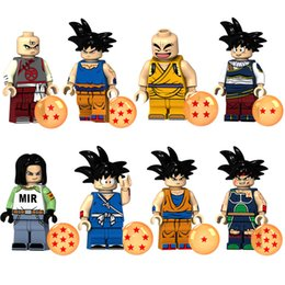 $enCountryForm.capitalKeyWord NZ - Dragon Ball Z Android 17 Son Goku Krillin Burdock Tien Shinhan Mini Action Figure Toy Building Block Bricks