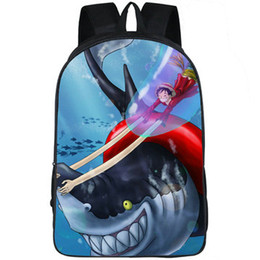 shark backpack NZ - Gum Fruit backpack Monkey D Luffy shark daypack One piece cartoon schoolbag Leisure print rucksack Sport school bag Outdoor day pack
