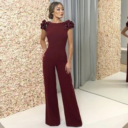$enCountryForm.capitalKeyWord NZ - ADYCE Celebrity Runway Jumpsuits For Women 2019 Summer Sexy Red Backless Romper Long Jumpsuit Sexy Ruffles Bodycon Club Bodysuit