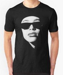 Nova Aaliyah Fãs dos homens T-shirt tamanho S-2XL verão Venda Quente Novo Tee Impressão Legal Tops Dos Homens Curto venda por atacado