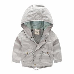 spring boys jackets NZ - 2018 New Baby Boy Jacket Coat Spring Autumn Children's Cotton Clothes Kids Toddler Boys Hooded Windbreaker Fashion Outerwear