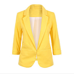 blazers NZ - Open Front Notched Blazer 2019 autumn Women Formal Jackets Office Work Slim Fit Blazer white Ladies suits 11 colors size S-XXL T5190612