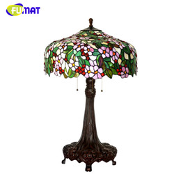 Bar Books Australia - FUMAT Art Stained Glass Table Lamp Luxury Apple Flower Lampshade Lamps For Living Room Hotel Book Store Bar Decor Table Lights