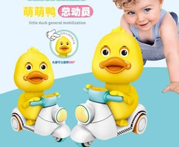 $enCountryForm.capitalKeyWord Australia - Children's pull back toy car press pull back small yellow duck motorcycle electric press Meng Meng duck children gift toy