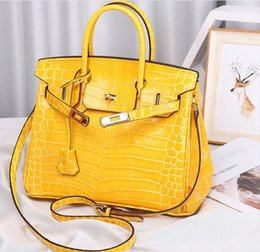 Discount italy women bags - crocodile handbag bags brand new shoulder tote emboss ostrich wholesale women tote purse BR Italy UK France genuine leat