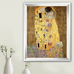 $enCountryForm.capitalKeyWord Australia - numbers Klimt & Kiss - Abstract oil painting wall art cuadros decoracion picture painting by numbers on canvas Modular pictures TF06