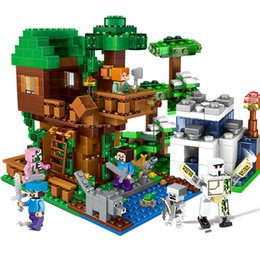 $enCountryForm.capitalKeyWord Australia - 700pcs Children's Building Blocks Toy Compatible City Legoingly Minecrafteds Jungle Tree House Village Diy Figures Bricks GiftsMX190820