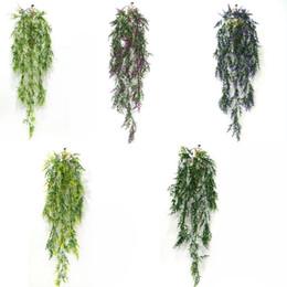$enCountryForm.capitalKeyWord Australia - Hanging Artificial Wheat Grass Fake Green Ivy Artificial Plants Vine Home Wall Garden Wedding Party Decor
