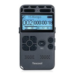 Long Time Recorder Australia - Yescool L188 Portable Professional Voice Recorder Dictaphone Ultra-long Standby Time Noise Reduction supports Hifi MP3 walkman