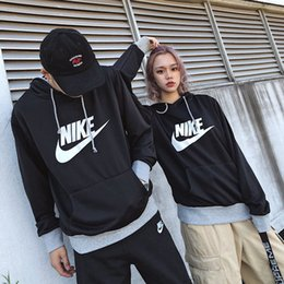 2c9a5b5cb5 Couple Autumn Designer Hooded Couple Color Matching Pullover Sweater for Men  Women Brand Contrast Color New Arrivals