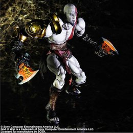 "god war figures NZ - PLAY ARTS 10"" GOD of WAR Kratos PVC Action Figure Collectible Model Toy"