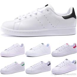 Cheap Boys Canvas Shoes Australia - Original Stan Men Women Smith Casual Shoes Black White Fashion Boy Girl Leather Flats Cheap Designer Trainer Sports Sneaker Free Shipping