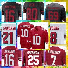 San Francisco 49ers Cheap 10 Jimmy Garoppolo 7 Kaepernick 56 Reuben Foster  Jersey 25 Richard Sherman 16 Montana 21 Sanders 80 Jerry Rice 2f5363535