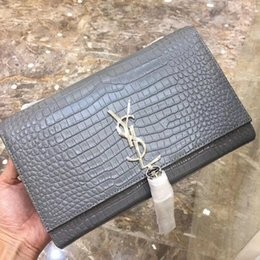 $enCountryForm.capitalKeyWord NZ - vvtisks8 Crocodile pattern bag new gray shoulder bag WOMEN HANDBAGS ICONIC BAGS TOP HANDLES SHOULDER BAGS TOTES CROSS BODY BAG CLUTCHES