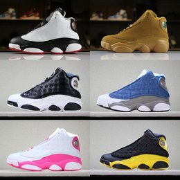 $enCountryForm.capitalKeyWord NZ - Cheap Kids Jumpman 13 Children Basketball Shoes Boy Girl 13s Black Sports Shoes Toddlers Athletic Trainers mens Kids Shoes Birthday Gift