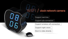 P2p Cameras Australia - WIFI P2P Clock Camera night vision motion detect coevrt clock camera