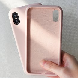 $enCountryForm.capitalKeyWord Australia - NEW Simple Solid Color Silicone Phone Case For iPhone 6 6s 7 8 Plus Cute Candy Color Soft Back Cover For iPhone XS Max X XR Case