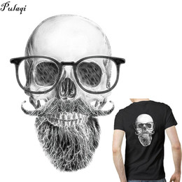 clothes t shirt man NZ - Pulaqi New Iron On Skull Batman Patches Heat Thermal Transfer Stickers For Man T-shirt Clothes Appliqued Garment Accessories D