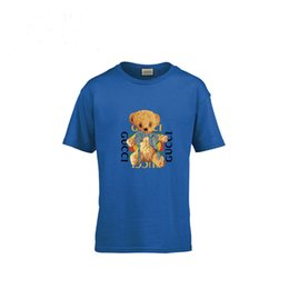 Discount cute boys animal t shirt - Bear T Cute T-shirt Pure Cotton Pretend Girl Boys Children's Clothes Children Short Sleeves Bottoming Blouse