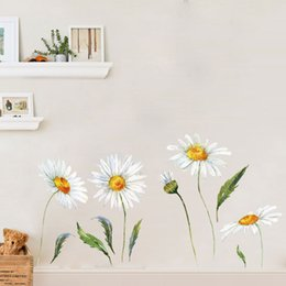 nursery flower decals Australia - Watercolor Flowers Wall Decal DIY Sunflower Wall Sticker for Bedroom Kids Room and Nursery Home Decor