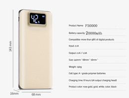 Wholesale Portable Usb Power Bank Australia - Power Bank 20000mAh For Xiaomi Mi 2 USB PowerBank Portable Charger External Battery Poverbank For iPhone 7 6 5 4 X 8