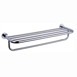 hotel towel bars Canada - high quality 304 stainless steel brass over the door double towel rack shelf brushed with bar Decorative towel rack for hotel