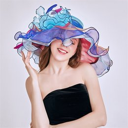top designers wholesale Canada - Color Matching Hat Flat Breathable Wedding Women's Top Hat Outdoor Beach Travel Shade Designer Hat Wholesale Hot