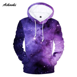 space sweatshirts Canada - Space Galaxy Hoodies Fashion Personality Beautiful Hooded Sweatshirts Men Women Hoodies Harajuku Casual Starry Sky 3D